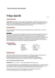 Technisches Merkblatt Trilac Gel-Öl - Farbenhaus Metzler Onlineshop