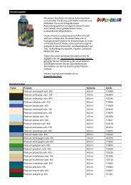 Platinumfarbtöne - Farbenhaus Metzler Onlineshop