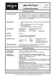 Technisches Merkblatt P 90 - Farbenhaus Metzler Onlineshop