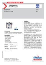 Technisches Merkblatt Vorlack - Farbenhaus Metzler Onlineshop