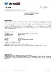 Technisches Merkblatt von Fibrodur - Farbenhaus Metzler Onlineshop