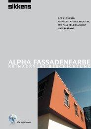ALPHA FASSADENFARBE - Farbenhaus Metzler Onlineshop