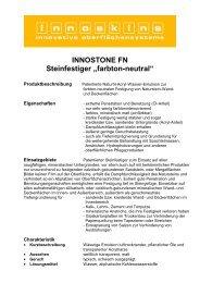 """INNOSTONE FN Steinfestiger """"farbton-neutral"""" - Farbenhaus Metzler ..."""