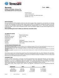 Technisches Merkblatt von Seventy - Farbenhaus Metzler Onlineshop