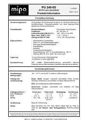 Technisches Merkblatt PU 240-05 - Farbenhaus Metzler Onlineshop