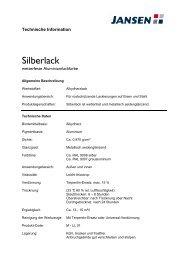 Technisches Merkblatt für Silberlack - Farbenhaus Metzler Onlineshop