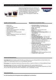 Technisches Merkblatt - Farbenhaus Metzler Onlineshop