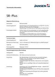 Technisches Merkblatt SR Plus - Farbenhaus Metzler Onlineshop