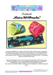 """Freebook """"Kleine HANDtasche"""" - Farbenmix"""