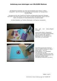 Anleitung zum Anbringen von - Farbenmix