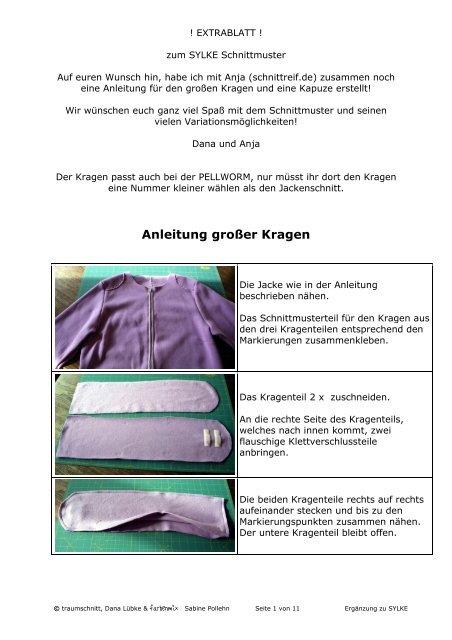 Anleitung großer Kragen - Farbenmix