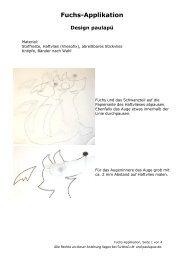 Fuchs-Applikation - Farbenmix