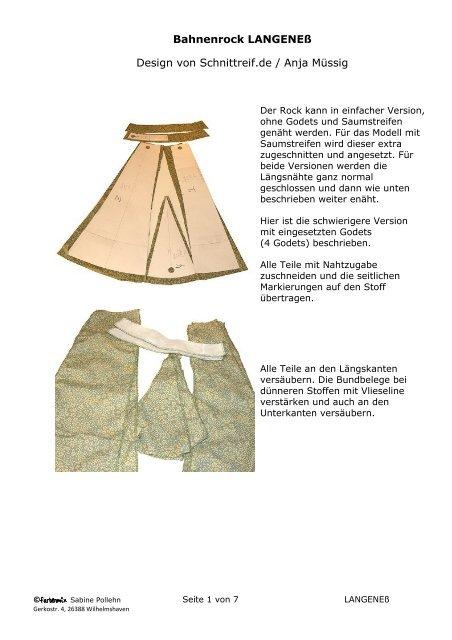 Bahnenrock LANGENEß Design von Schnittreif.de ... - Farbenmix