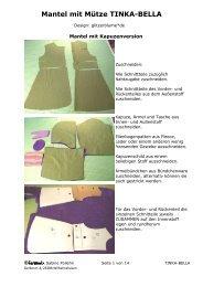 Mantel mit Mütze TINKA-BELLA - Farbenmix