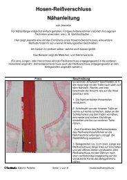 Hosen-Reißverschluss Nähanleitung - Farbenmix