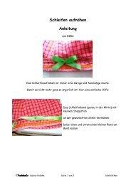 Schleifen aufnähen Anleitung - Farbenmix