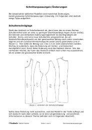 Schnittanpassungen/Änderungen Schulterschräglage - Farbenmix