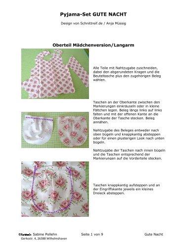 Pyjama-Set GUTE NACHT - Farbenmix