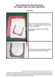 Gratis-Ebook für einen Rucksack für Puppen oder mir ... - Farbenmix