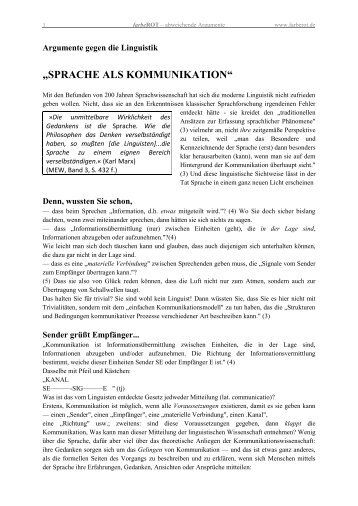 Sprache als Kommunikation (PDF) - farbeRot