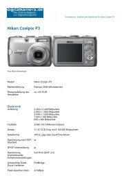 Nikon Coolpix P3 Datenblatt von Digitalcamera.de - Farbfotos