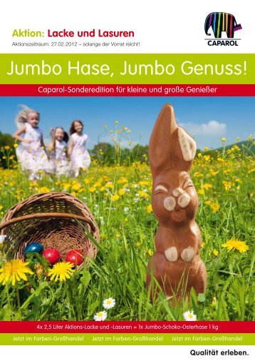 Jumbo Hase, Jumbo Genuss! - Farbtex