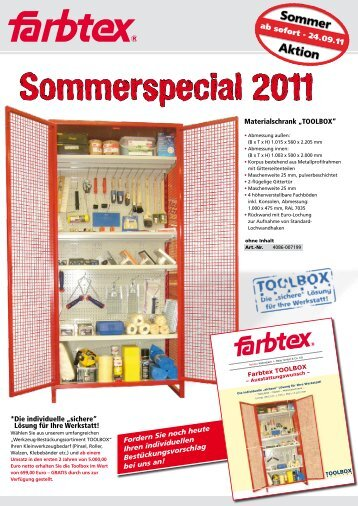 Sommerspecial 2011 - Farbtex
