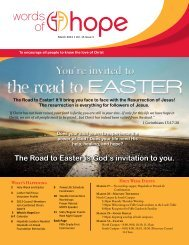 The Road to Easter is God's invitation to you. - Hope Lutheran Church