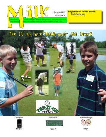 Tee it up Fore Teens over the Years - Hope Lutheran Church