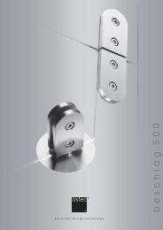 flexible pivoting door fitting - astec design beschlaege systeme