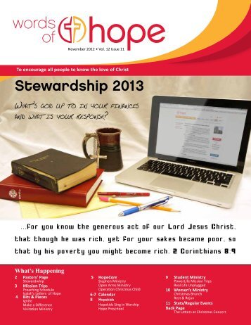 Stewardship 2013 - Hope Lutheran Church