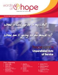 Unparalleled Acts of Service - Hope Lutheran Church