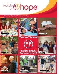Thank You Volunteers! - Hope Lutheran Church