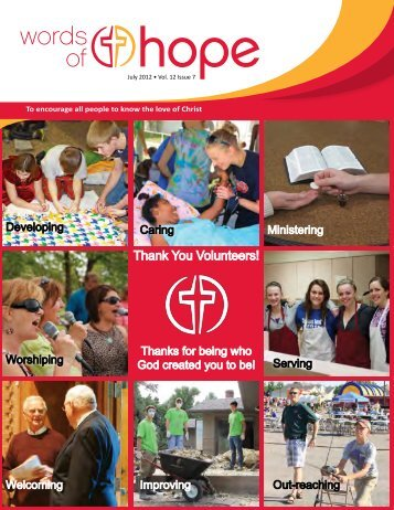 Thank You Volunteers! - Hope Lutheran Church