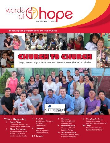 CHURCH TO CHURCH - Hope Lutheran Church