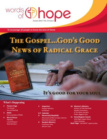 The Gospel...God's Good News of Radical Grace - Hope Lutheran ...