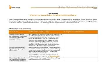 Checkliste für den produktiven Umgang mit E-Mails - Digicomp