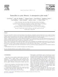 Temocillin in cystic fibrosis - University of Ulster