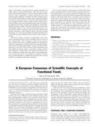 A European Consensus of Scientific Concepts of Functional Foods
