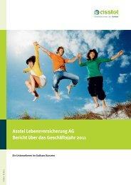 Asstel Lebensversicherung AG Bericht über Das Geschäftsjahr 2011
