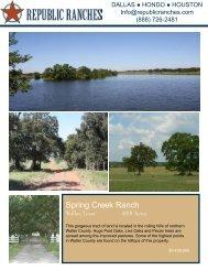 Spring Creek Ranch - Republic Ranches