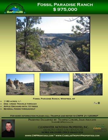 Fossil Paradise Ranch $ 975,000 - Farm & Ranch