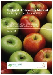 Orchard Biosecurity Manual for the Apple and Pear - Farm Biosecurity
