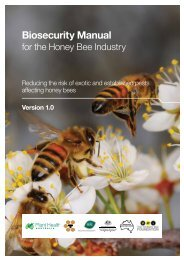Biosecurity Manual for the Honey Bee Industry - Animal Health ...