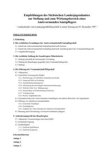 Empfehlungen des Sächsischen Landesjugendamtes zur ... - Familie