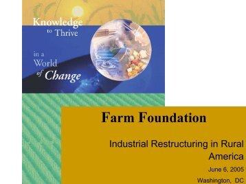 Walter Armbruster - Farm Foundation