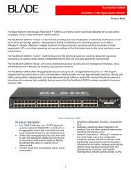 RackSwitch G8000 Product Brief