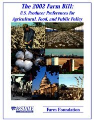 The 2002 Farm Bill: US Producer Preferences for - Farm Foundation