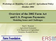 Overview of the 2002 Farm Act and U.S. Program ... - Farm Foundation