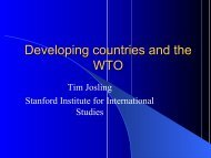 Developing countries and the WTO - Farm Foundation
